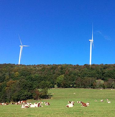 Mise en service du parc éolien de Lomont-Vellerot Velocita