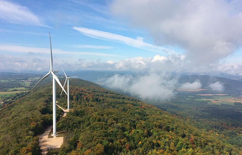 Les monts du Lomont windfarm