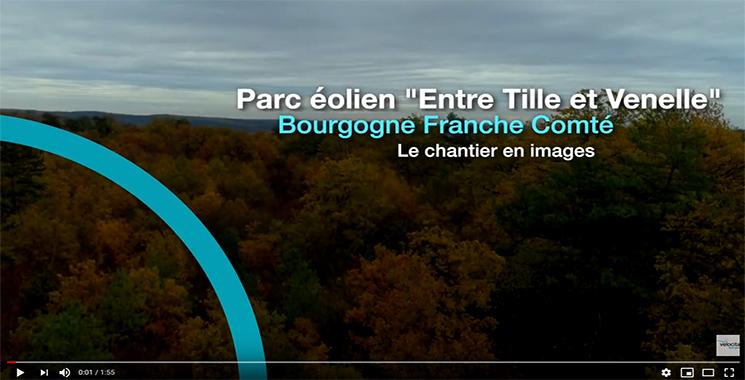 vidéo de la construction du parc éolien Entre tille et Venelle