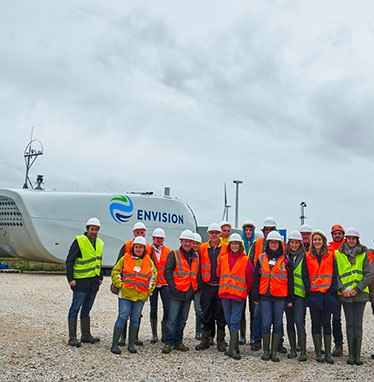 "Visit to the ""Entre Tille et Venelle"" wind farm construction site"