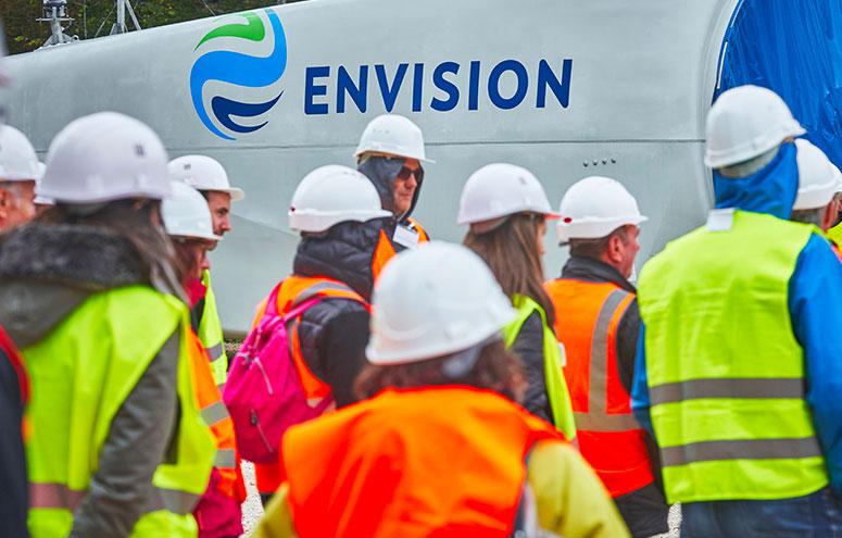 """Visit to the """"Entre Tille et Venelle"""" wind farm construction site"""