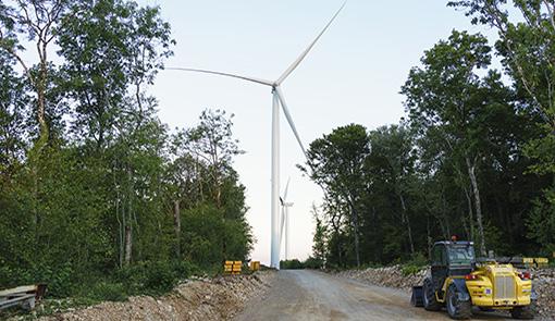 Chantier de parc éolien
