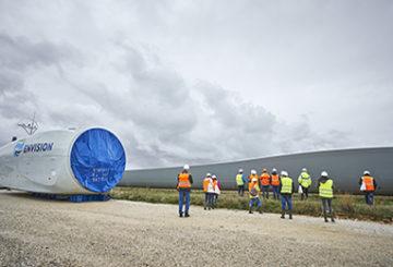 Visite d'un chantier de parc éolien