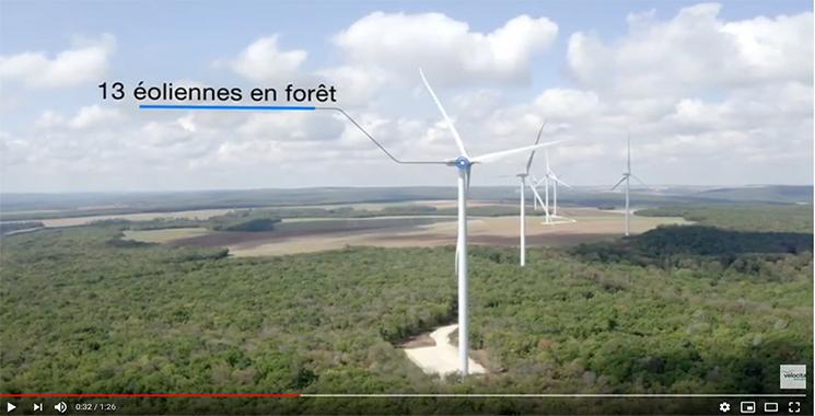 Vidéo de présenation du parc éolien Entre Tille et Venelle